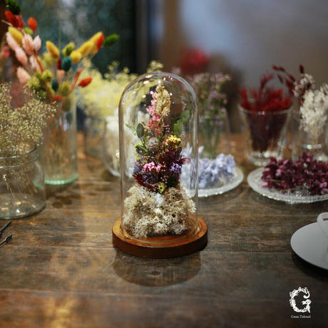 Glass Dome Flower M (gd-06)
