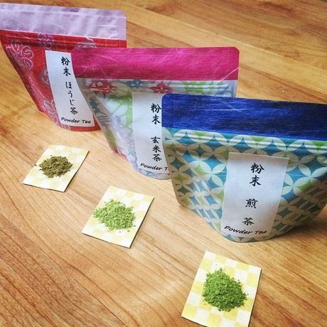 『定期便商品』送料込み! 粉末緑茶 3種類セット| 静岡茶のギフト、深蒸し茶専門店 GREEN*TEA WORKSHOP