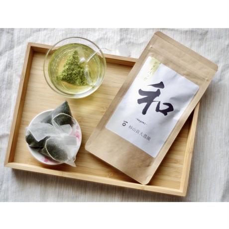 お茶3種類!煎茶「和」&ほうじ茶&和紅茶ティーバッグのギフトボックス!ドライフラワーセット
