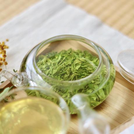 お茶とガラス急須!高級品種さえみどり「貢大」10g&ガラス急須セット
