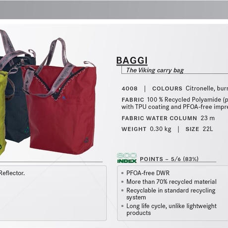 【Klattermusen】 Baggi Bag - citronelle※2011年モデル