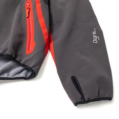 【Tilak+POUTNIK】Ogre Windstopper Jacket_Carbon/Red-tape