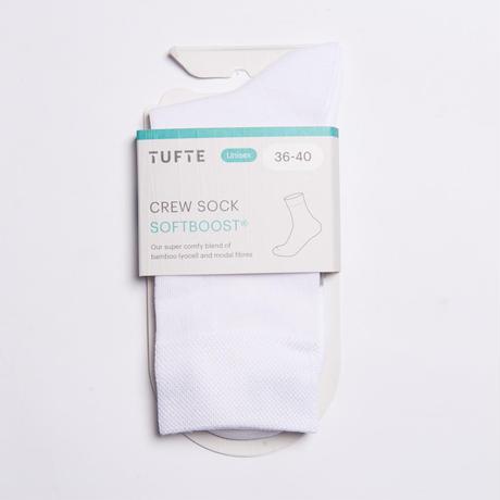 【TUFTE】CREW SOCKS - White