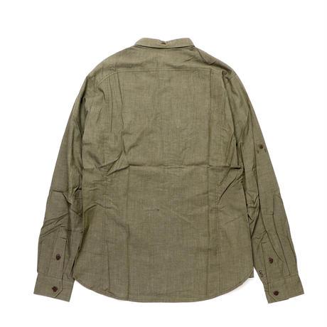 【KLATTERMUSEN】Lofn Shirt L/S_MossGreen_Mサイズ_※SalesmanSample