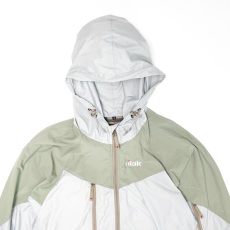 【Tilak+POUTNIK】Peregrine Jacket_Silver/Lt.Olive_Sサイズ_※SalesmanSample