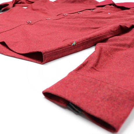 【Klattermusen】Ullin wool shirts M'S_Burntrusset_Lサイズ_※Salesman Sample
