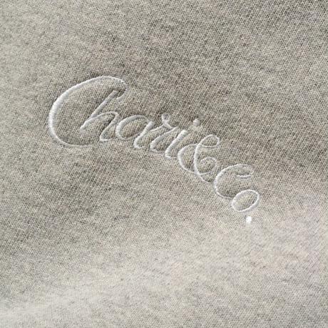 "CHARI&CO ""HAND LETTER HOODIE SWEATS""グレー"