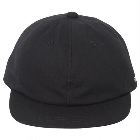 "CHARI&CO ""HE RUBBER SIDE DOWN SHORT VISOR SNAPBACK CAP"" BLACK"