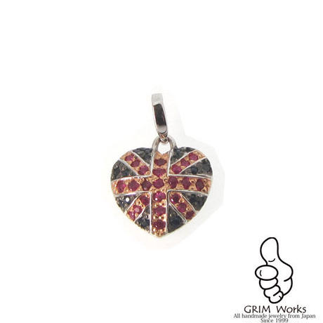 Heart Union Jack  Pendant top
