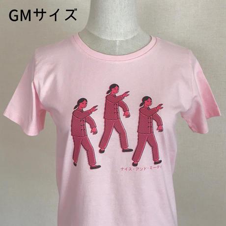太極拳ガールTシャツ_Baby Pink / Pink