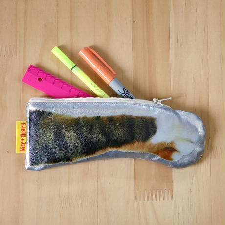 CAT PAW POUCH - Tabby tricolore