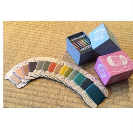 京はんなり15色シルク糸 セット[糸六]