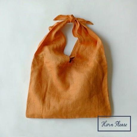 LINEN BAG 刺繍ができるリネンのバッグ [Horn Please]