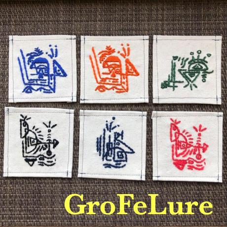 GroFeLure 刺繍 コースター