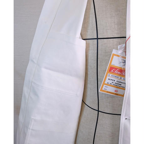 【Le Sans Pareil/ル サン パレイユ】コットンツイル トラディショナル カバーオール ホワイト