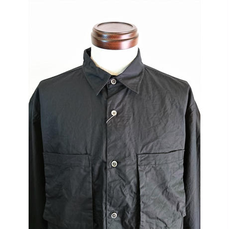 【modem design/モデムデザイン】スクエアポケット ワークシャツ ブラック