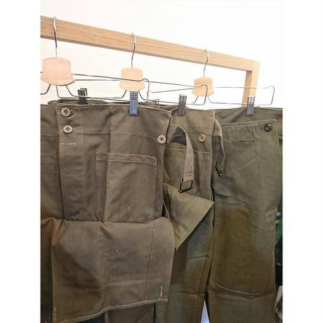 【French Army M-38 Motorcycle Pants Wood Button DeadStock】フランス軍  M-38 モーターサイクルパンツ ウッドボタン DeadStock