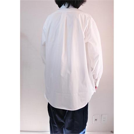 【Audience/オーディエンス】ストレッチタイプライター レギュラーカラー ボクシーシャツ ホワイト