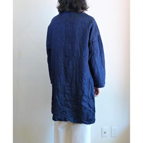 【Yarmo/ヤーモ】Indigo Linen Duster Coat  インディゴリネン ダスターコート