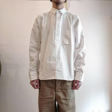 【TATAMIZE/タタミゼ】プルオーバーシャツ ホワイト