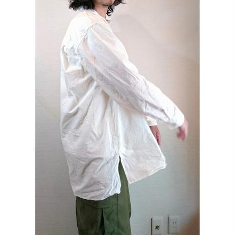 【Audience/オーディエンス】馬布ヴィンテージフィニッシュ バンドカラーシャツ ホワイト