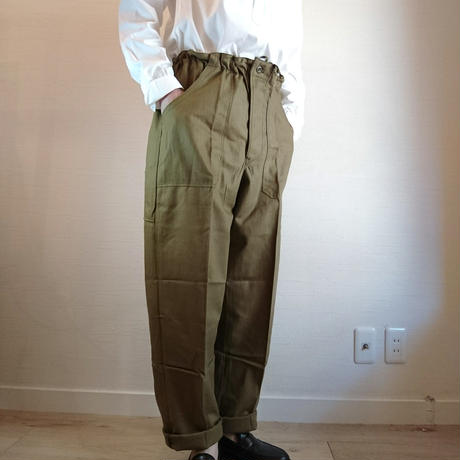 【Czech Army 80's Easy Pants DeadStock】チェコ軍 80's イージーパンツ DeadStock オリーブ