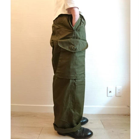 【Cnadian Army 80´S Wind Over Pants Dead Stock】カナダ軍 80´S ウィンド オーバーパンツ  DeadStock  Long/Small