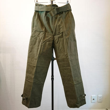 【French Army 40's M-38 Motorcycle Pants DeadStock】フランス軍 40's M-38 モーターサイクルパンツ DeadStock
