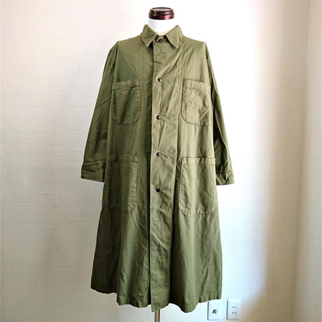 【US.Army 80's Inspector Coat DeadStock Fabric Dyeing】アメリカ軍 80's インスペクターコート DeadStock 後染め オリーブ
