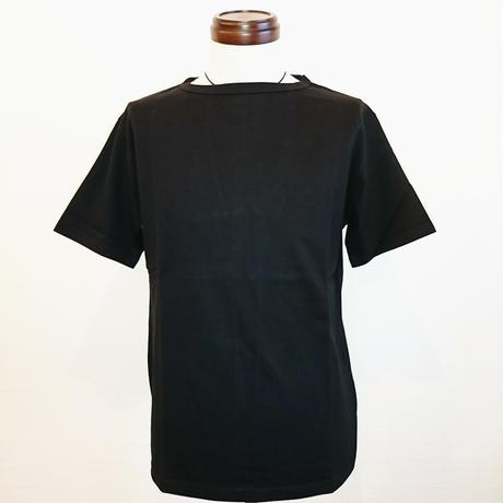 【Tieasy AUTHENTIC CLASSIC/ティージーオーセンティッククラシック】サマーニットTシャツ ブラック
