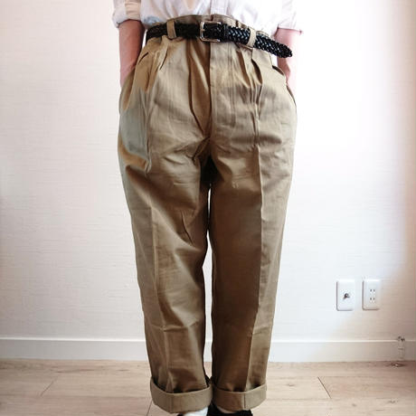 【French Army M-52 Chino Pants Late Model DeadStock】フランス軍 M-52 チノパンツ後期型 DeadStock