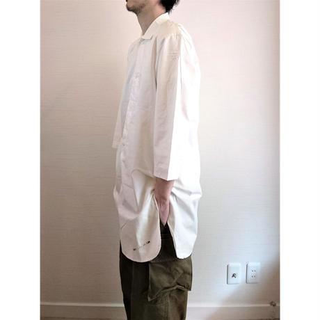 【Swedish Army Hospital Shirts DeadStock White 】スウェーデン軍 ホスピタルシャツ DeadStock ホワイト
