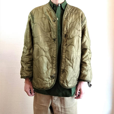 【US. Army M-65 Field Jacket Quilting Liner Used】アメリカ軍 M-65 フィールドジャケット キルティングライナー Used