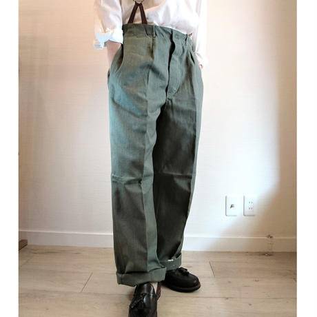 【Swedish Army 50's Prisoner Pants DeadStock】 スウェーデン軍 50's プリズナーパンツDeadStock