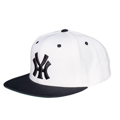 YH street cap  NAVY/WHITE