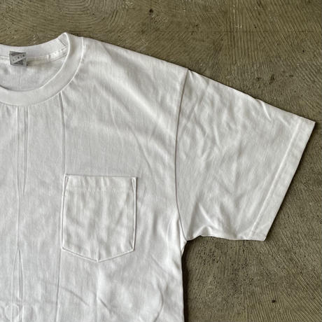 """TROUBLE COFFE CO. """" #MAP """" 6.1oz Heavy Weight Cotton Pocket Tee White"""