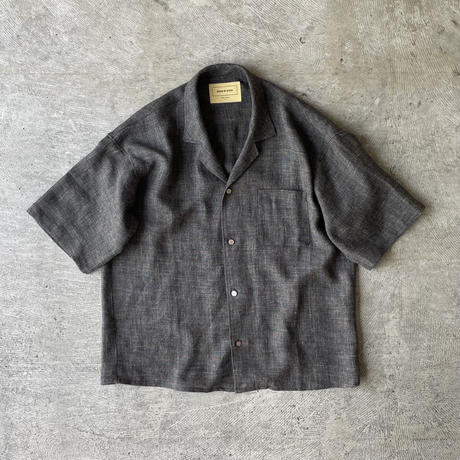 """SEVEN BY SEVEN """" OPEN COLLAR SHIRTS S/S """" Shark skin nep"""