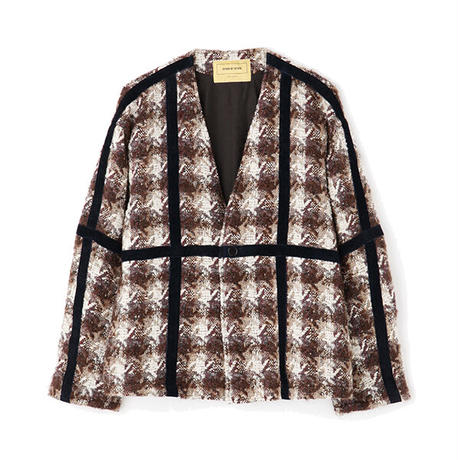 """SEVEN BY SEVEN """" SWITCHING CARDIGAN """" Leather Houndstooth pattern"""