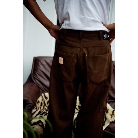 """Willow Pants """" P-010 """" Herringbone Wool Brown"""