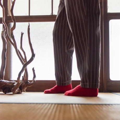 """Willow Pants """" P-008 """" DEADSTOCK FABRIC Brown Stripe"""