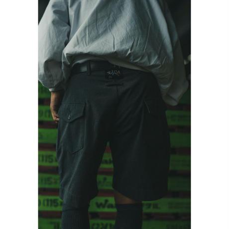 "Willow Pants "" P-001(Shorts)"" Blue Gray"