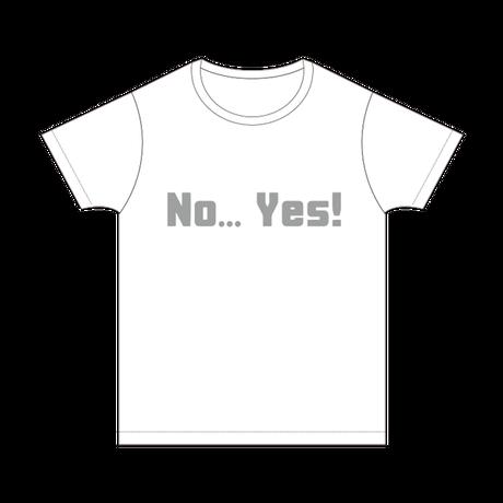 ハタチ旅  NO YES Tシャツ/ホワイト