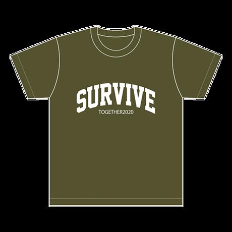 SURVIVE Tシャツ/シティグリーン