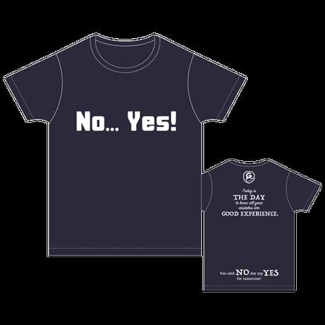 ハタチ旅  NO YES Tシャツ/ネイビー