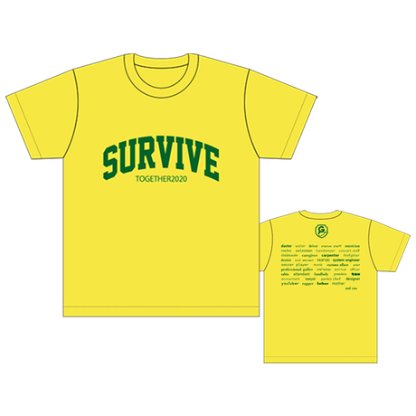 SURVIVE Tシャツ/イエロー