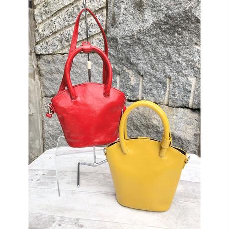 【マスクケース付き】mini BUCKET BAG エナメルレザーショルダーバッグ