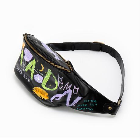 Hand Painted Shoulder Bag / No.5