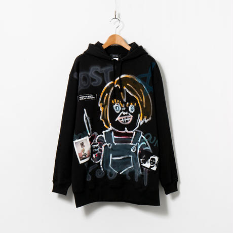 Hand Painted Over Hoody / Black / No.79