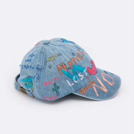 Hand Painted Cap / No.9