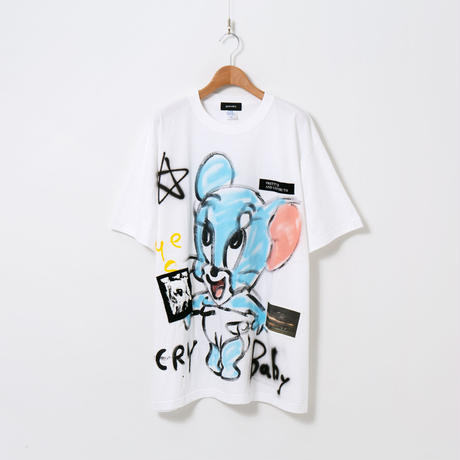 Hand Painted T-sh / White / No.34